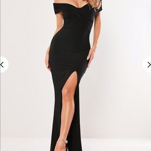 Black off the shoulder gown, NWT